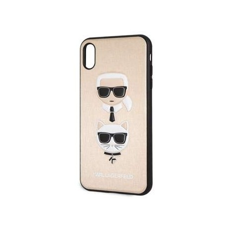 Coque Iphone XS MAX 6.5 Karl Lagerfeld Gold