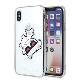 Coque Iphone XS MAX 6.5 Karl Lagerfeld transparente chat Choupette Griffe