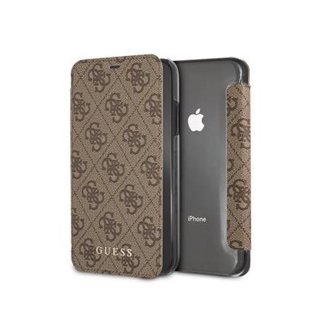 9d0629ce83 Etui iPhone XS MAX folio Guess Charms marron 4G - Destination Telecom