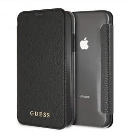 Etui Iphone XR 6,1'' Folio Guess Iridescent Noir