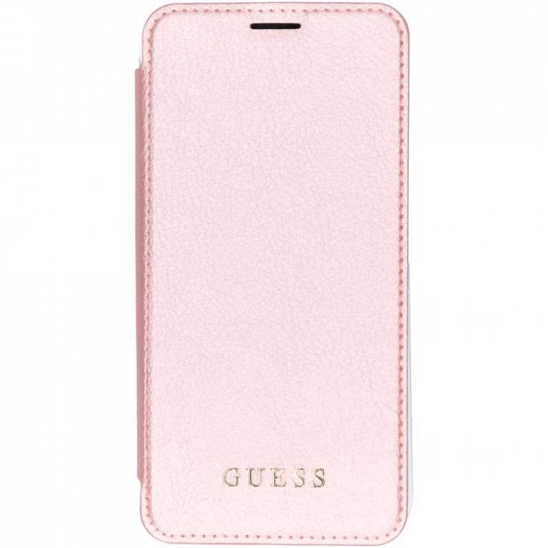 1e76836885 Etui Iphone XS MAX 6,5'' Folio Guess Iridescent rose - Destination ...