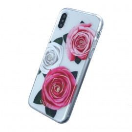 Coque iPhone X / XS Guess roses