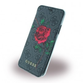 Etui iPhone X / XS folio Guess Flower Desire