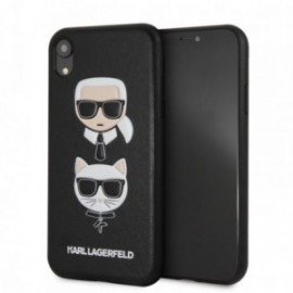 Coque Iphone XS Karl Lagerfeld choupette noire