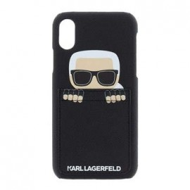 Coque Iphone X Karl Lagerfeld Sneaky noire