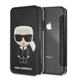 Etui iPhone XS MAX Karl Lagerfeld folio noir
