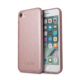 Coque iPhone 8 rigide Guess Iridescent rose