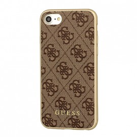 Coque iPhone 6 / 6s Guess 4G Charms marron