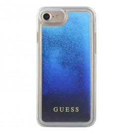 Coque iPhone 6 / 6S Guess Liquid Glitter Paillettes Bleu