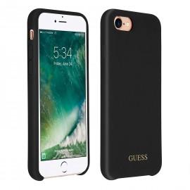 Coque iPhone 8 Guess Effet Velours noire