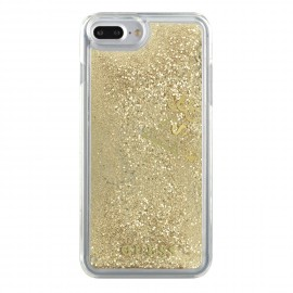 Coque iPhone 6 Plus / 6S Plus Guess Liquid Glitter Paillettes Or