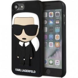 Coque Iphone 8 Karl Lagerfeld Noire Karl 3D