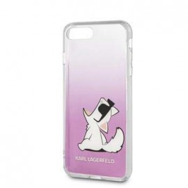 Coque Iphone 7 Karl Lagerfeld choupette Lunette Rose