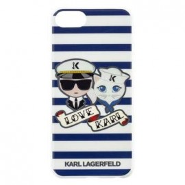 Coque Iphone 7 Karl Lagerfeld Sailor Stripes love Karl