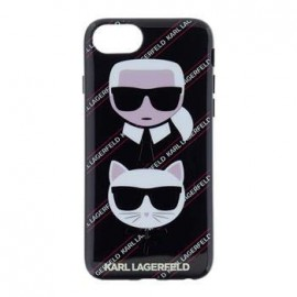 Coque Iphone 7 Karl Lagerfeld choupette Canvas Noir