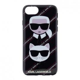 Coque Iphone 7 Karl Lagerfeld choupette Canvas Noir