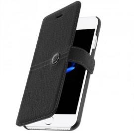Etui iPhone 7 plus folio Façonnable noir
