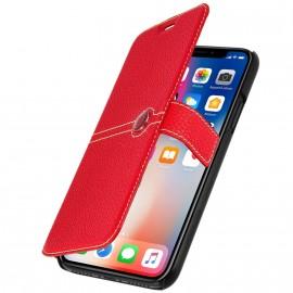 Etui iPhone XS Façonnable folio rouge