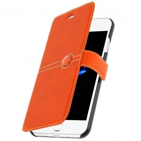 Etui iphone 7 Façonnable grainé orange
