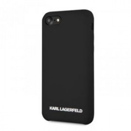 Coque pour Iphone 7/8 Karl Lagerfeld Tpu noir Logo silver