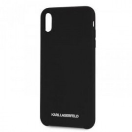 Coque pour Iphone X/XS Karl Lagerfeld Tpu noir Logo silver