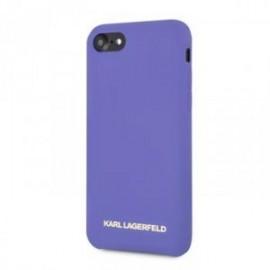 Coque pour Iphone 7 Plus / 8 Plus Karl Lagerfeld Tpu Violet Logo