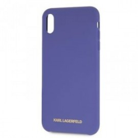 Coque pour Iphone X/XS Karl Lagerfeld Tpu Violet Logo