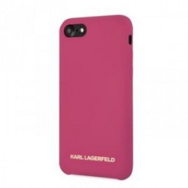 Coque pour Iphone 7/8 Karl Lagerfeld Tpu Fuchsia Logo