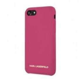 Coque pour Iphone 7 Plus / 8 Plus Karl Lagerfeld Tpu Fuchsia Logo