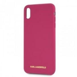 Coque pour Iphone X/XS Karl Lagerfeld Tpu Fuchsia Logo