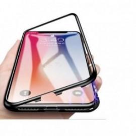 Coque pour Iphone 7 plus / 8 plus magnétique 360° bumper métal noir