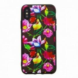 Coque pour Iphone X/XS gel fleurs multicolors