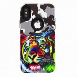 Coque pour Iphone XR 6,1 Lion multicolor