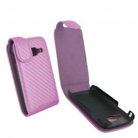 Etui S5380 Wave Y rose aspect carbone