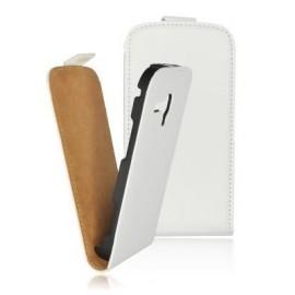 Etui Samsung I8160 Galaxy Ace 2 cuir blanc