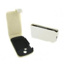Etui Samsung chat s3350 blanc façon carbone