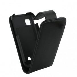 Etui Samsung S6102 / Galaxy Y Duos simili noir