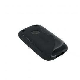 Coque Blackberry 9320 noire bi-matière