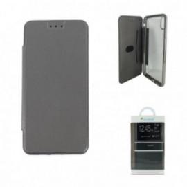 Etui pour Iphone XS Max folio ultra fin argent