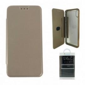 Etui pour Iphone XS Max folio ultra fin or