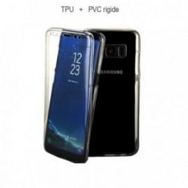 Protection complete 360 PVC rigide + TPU souple pour Samsung A8 2018