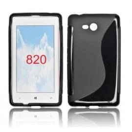 Coque Nokia Lumia 820 bimatière noire