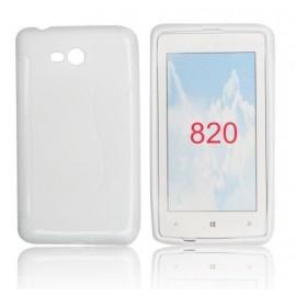 Coque Nokia Lumia 820 bimatière blanche