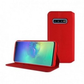 Etui pour Samsung S10 G973 Folio stand rouge