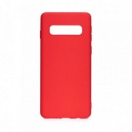 Coque pour Samsung S10 soft touch rouge