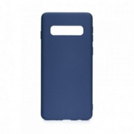 Coque pour Samsung S10 soft touch bleu
