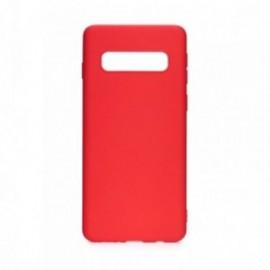 Coque pour Samsung S10 Plus soft touch rouge