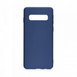 Coque pour Samsung S10 Plus soft touch bleu