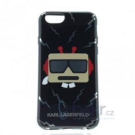 Coque pour iPhone 6/6S Karl Lagerfeld Karl Robot TPU Case noir