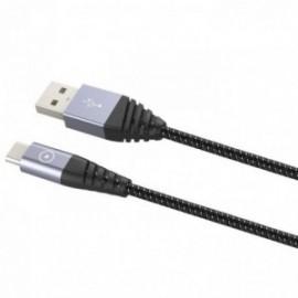 Muvit - Tiger cable ultra résistant 3A USB/TYPE C 2M GRIS